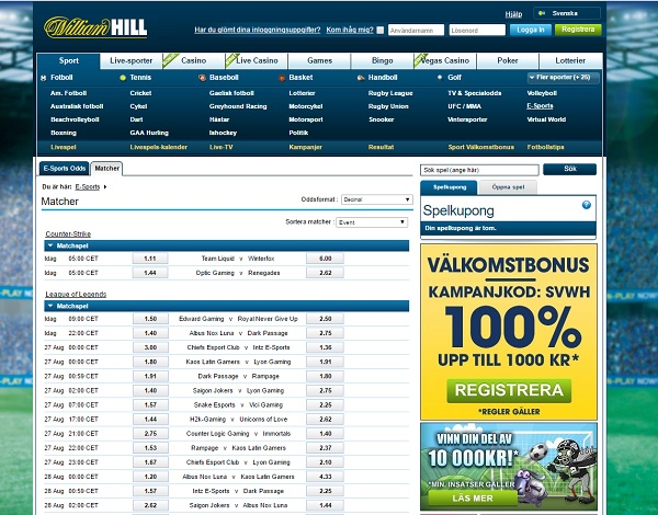 william hill esport Screenshot