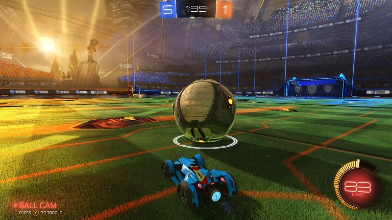 rocket league in game bild