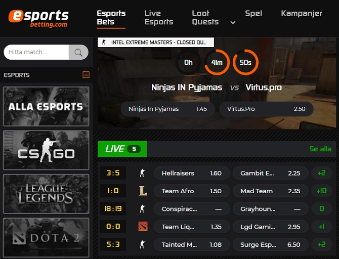 esportsbetting.com esport betting