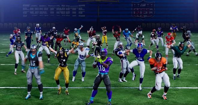 Fortnite i samarbete med NFL, lagtröjor på gång