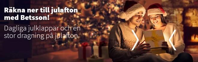 Kom i julstämning med dagliga julklappar hos Betsson