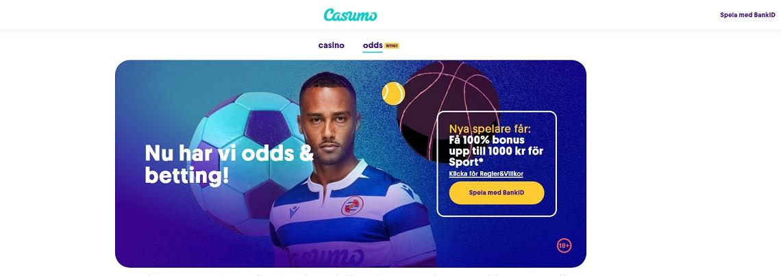 Casumo lanserar sportsbook med odds på esport